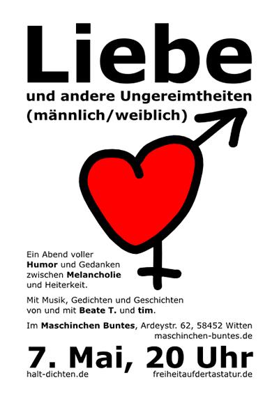 Liebe Plakat